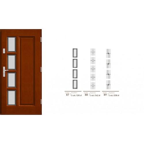 Drzwi zewnętrzne drewniane  ramowe Agmar-Aspera