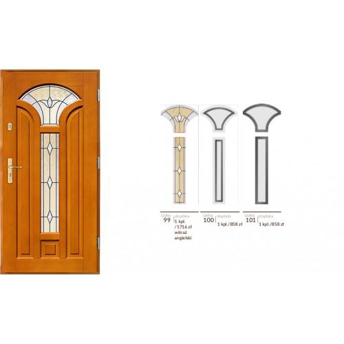 Drzwi zewnętrzne drewniane  ramowe Agmar-Beatus