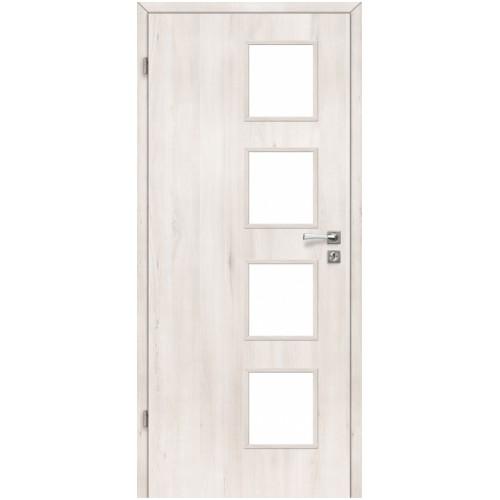 Alba drzwi lakierowane szklone  Voster